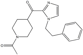 1-(4-(1-PHENETHYL-1H-IMIDAZOLE-2-CARBONYL)PIPERIDIN-1-YL)ETHANONE
