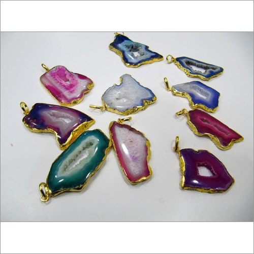 Geode Charms Pendants