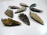Jasper Arrowhead pendant Black Plated