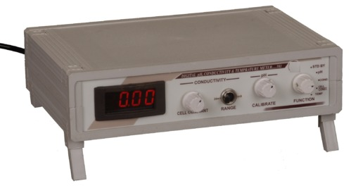 DIGITAL pH - CONDUCTIVITY & TEMP. METER