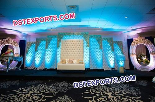 High Class Wedding Stage Tuffted Panels Sofa