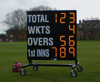 Electronic Operated Cricket Score Board