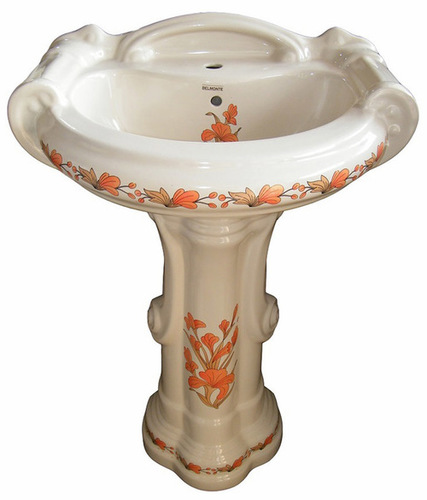 Color Pedestal Washbasin