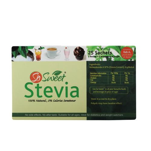 Zero Calories Sweetener (25 Sachets in one Box)