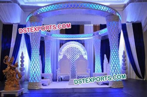 Indian Wedding Plazo Crystal Mandap