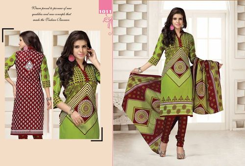 New Jetpur Printed Cotton Salwar Kameez