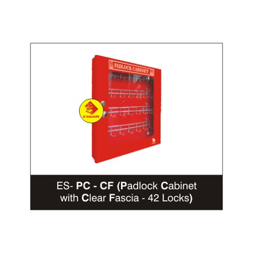 Lockout Padlock Cabinet with Clear Fascia - 42