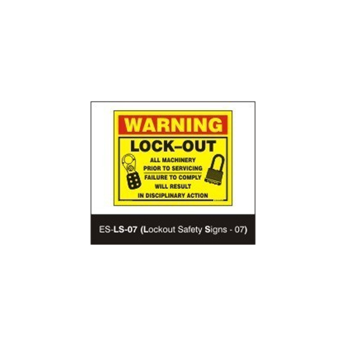 Warning Lockout Signs