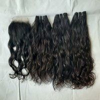 Raw Natural Water Wave Hair Extension With Closure