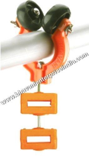 Plastic Double Wheel Pipe Trolley