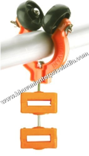 Plastic Double Wheel Pipe Trolley