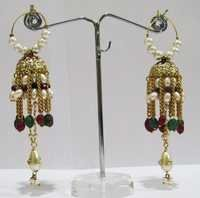 Multi Color Jhumki Earrings