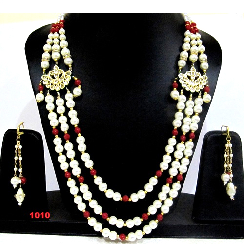 Pearl Beaded Multi layered Necklace