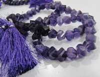 Amethyst Twisted Beads