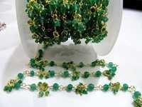 Green Onyx Flowe Chain