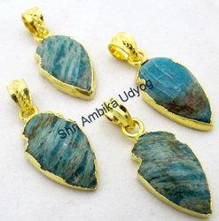 Amazonite Arrowhead Charm
