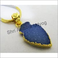 Druzy Arrowhead Charm Pendant Connector Pendants
