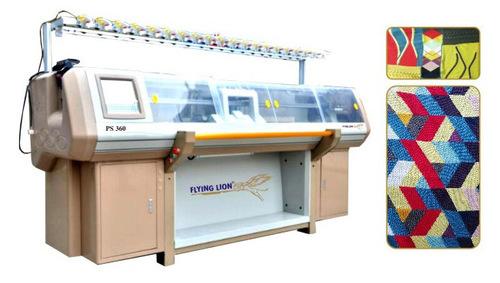 Three System Flat Knitting Machine