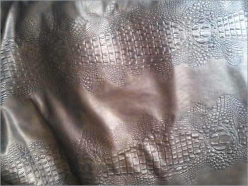 Printed Black Upholstery Leather