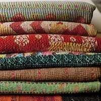 Vintage Saree Kantha Quilt