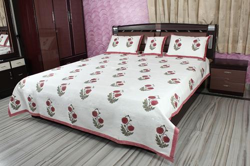 Decorative Block Print Bedsheet