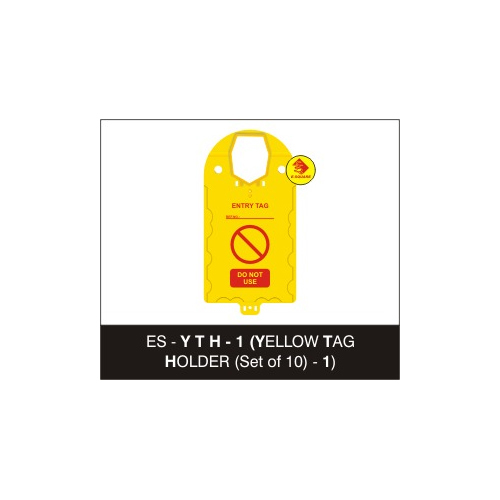 Yellow Tag Holder & Tags