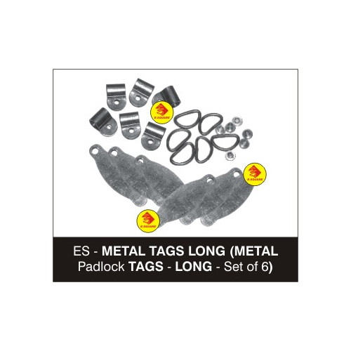 Metal Padlock Tags - Long