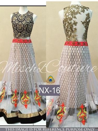 Fancy Designer Stylish Latest Net Lehenga