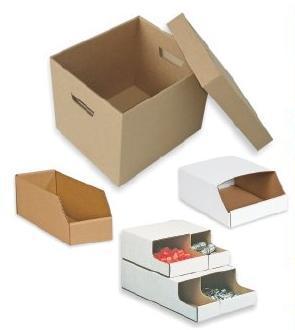 Corrugated Storage Stackable Bins