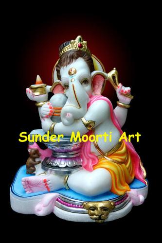 Marble Shivling Ganpati Statue