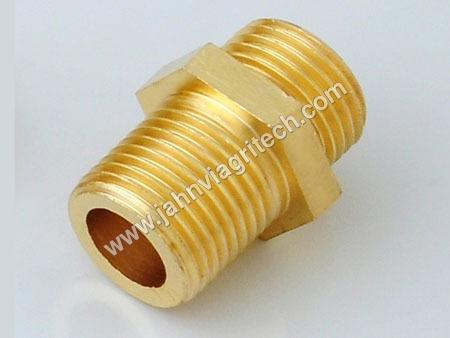 Brass Connector Hex Nipple