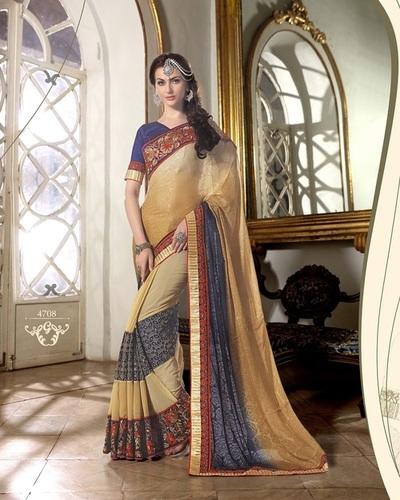 Fancy Designer Latest Exclusive  Heavy Work Saree