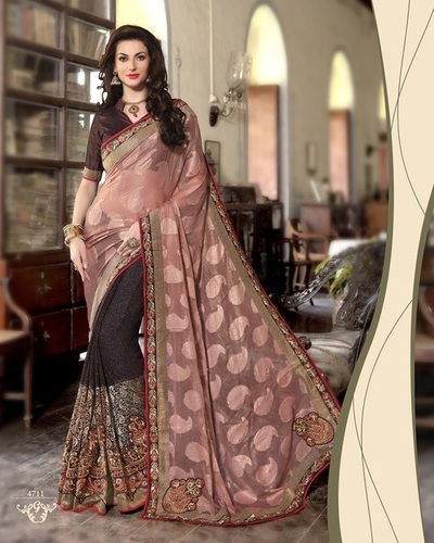 Fancy Designer Latest Exclusive  Heavy Work Saree