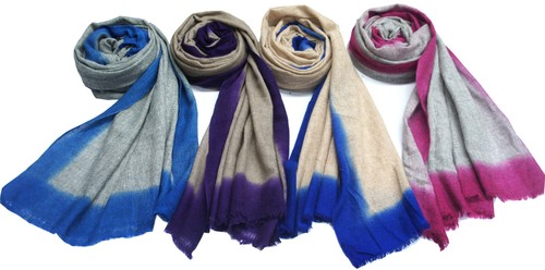 Pashmina shawls with ombre