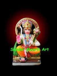 Marble Sitting Hanuman JI Statue