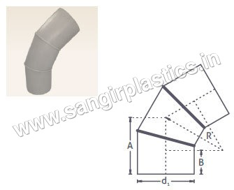 PP Fabricated Bend 60 Degree, 45 Degree, 30 Degree