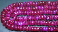 Pink Rainbow Moonstone Faceted Rondelle