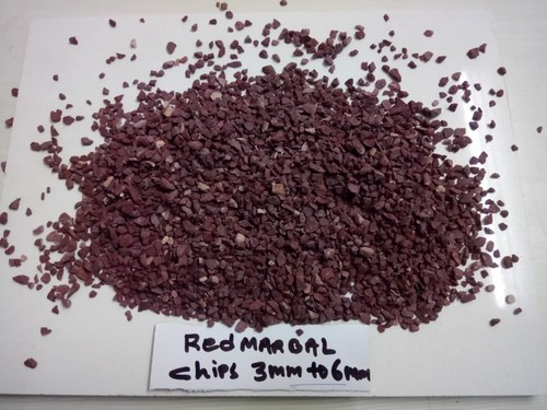 Natural wall cladding red Terrazzo Stone / wash marble aggregate gravels