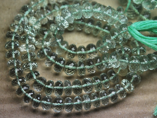 Green Amethyst Faceted Rondelle