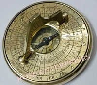 Nautical Brass Arabic Sundial Compass