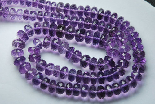 Pink Amethyst Faceted Rondelle
