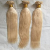 Two tone blonde human hair