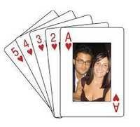 Customized printing on playing Cards