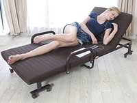 Portable adjustable Bed with Mattress and wheels