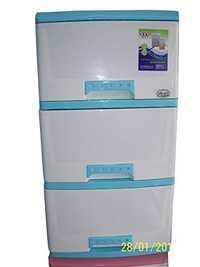 Storage Drawer Cabinet (4 Layers Blue/White)