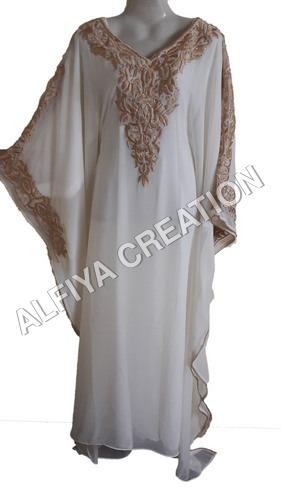 Eid special white gorgeous farasha kaftan