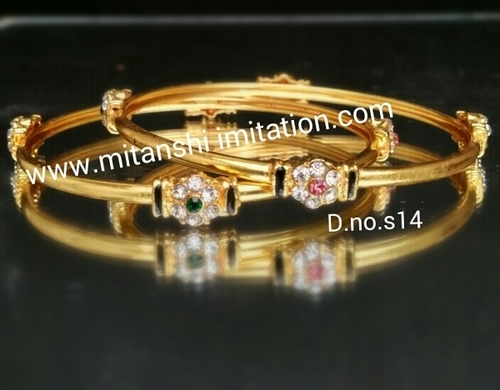 Diamond Gold Plated Bangles