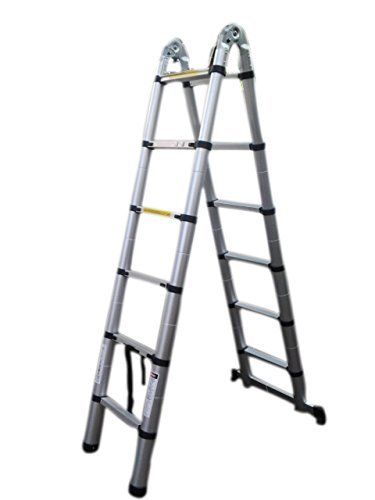 Telescopic aluminium compact self standing Ladder (3.8 Meters With Joint)