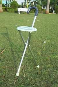 Walking Stick with Folding Stool chair
