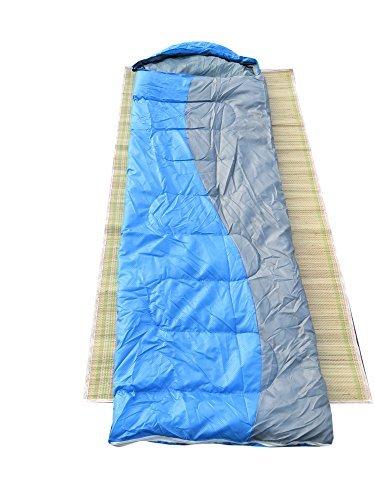 Camping Trekking Gear Sleeping Bag-Blue/Grey
